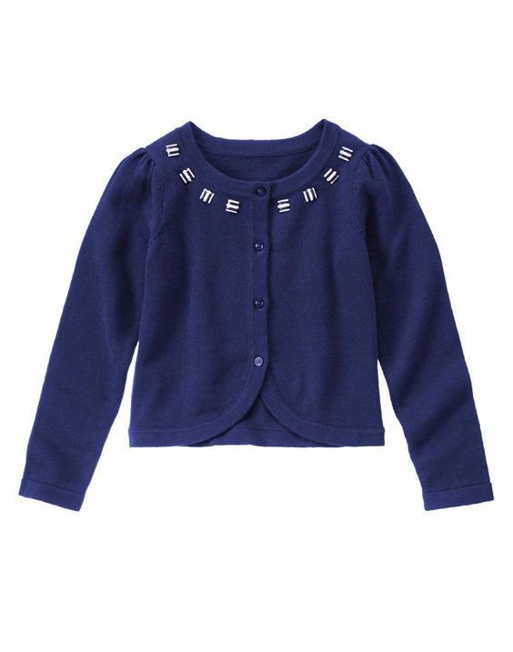 de1d9c5885ee NWT Gymboree MOD ABOUT ORANGE Beaded Navy Long Sleeve Cardigan ...