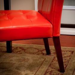Orange Parson Chairs