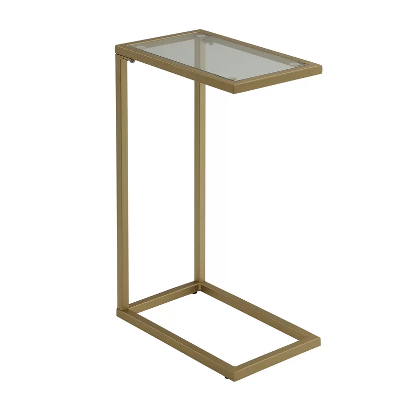 Castillo End Table Glass Top Accent Table Glass End Tables Glass Top End Tables