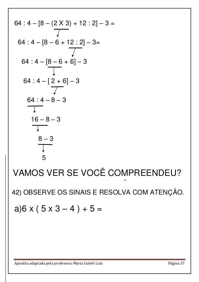 Apostila Matematica Em Pdf Atividades De Matematica Divertidas