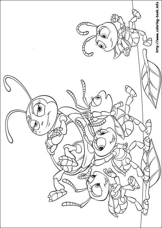 A Bug S Life Coloring Picture Family Coloring Pages Coloring