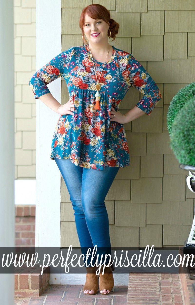 0779b0ad1b3  curvy  fashion  trendy  printed  floral  top  cute  fall