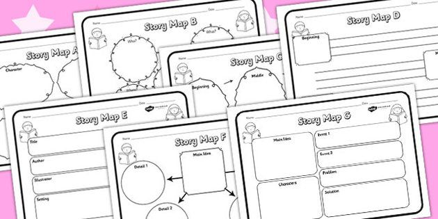 Story Map Worksheets Pack  Writing    Map Activities