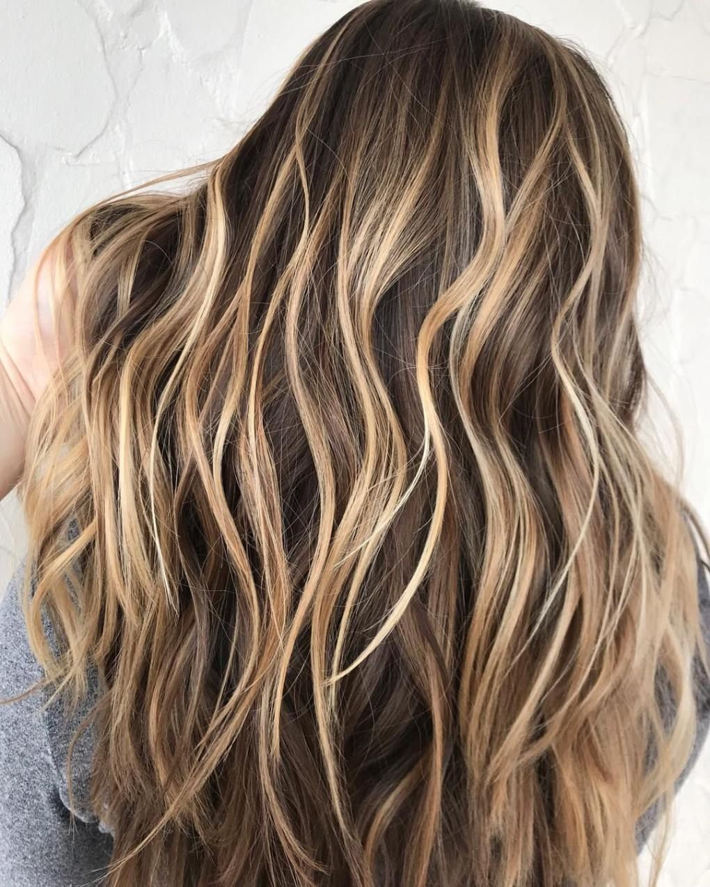 High-Contrast Caramel Blonde Highlights  Hair highlights, Brown