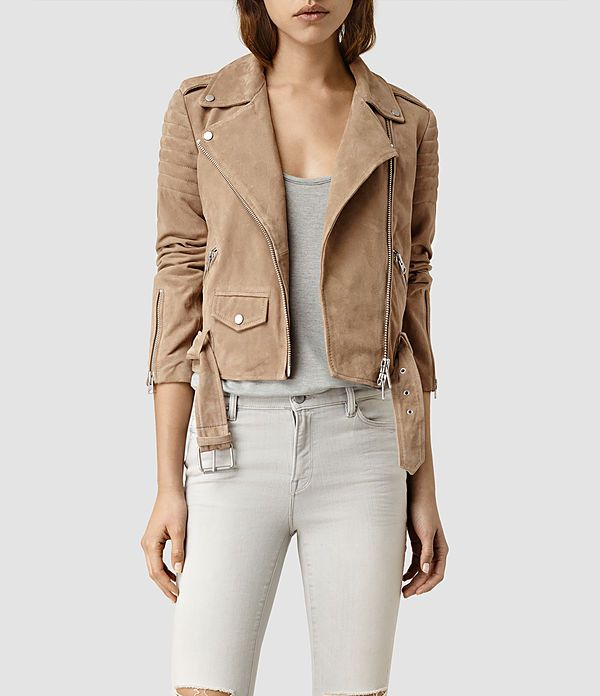 75cdc484064 Womens Hitchen Suede Biker Jacket (SAND BROWN) - product_image_alt_text_1
