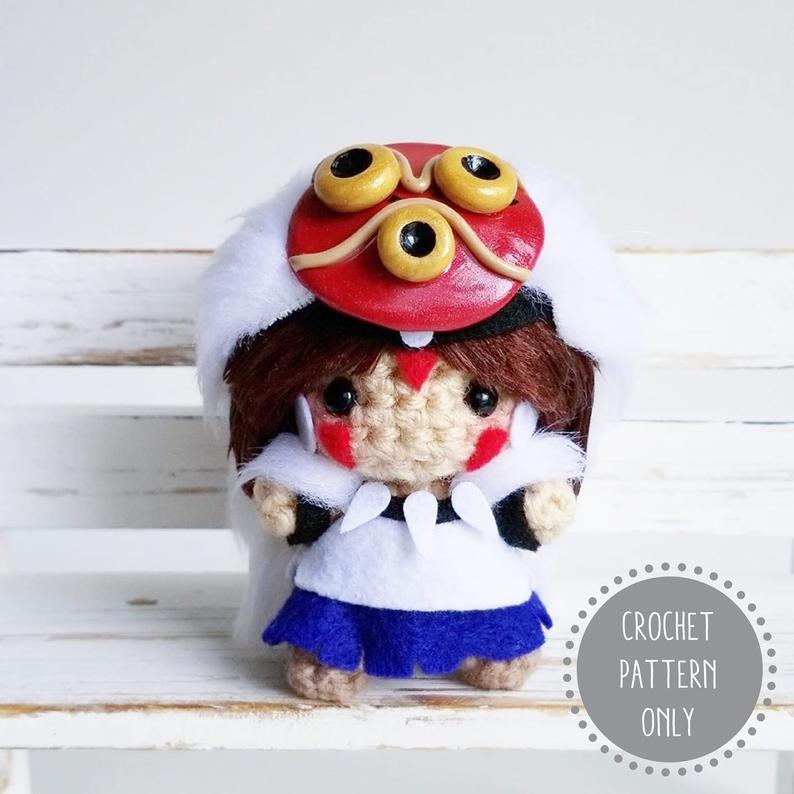 San (Princess Mononoke) | Crochet, Crochet dolls, Crochet geek | 794x794