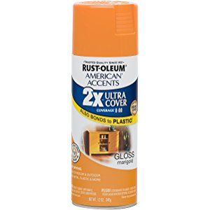 Rust Oleum 284987 American Accents Ultra Cover 2x Gloss Marigold Rustoleum American Accent Gloss Spray Paint