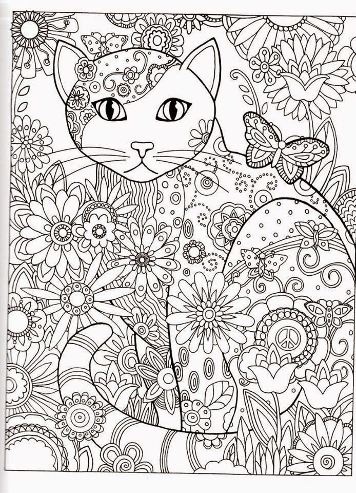 FREE Printable Coloring Page With Cat