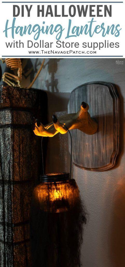 DIY Halloween Lanterns (Easy and Creepy Halloween DIY Projects