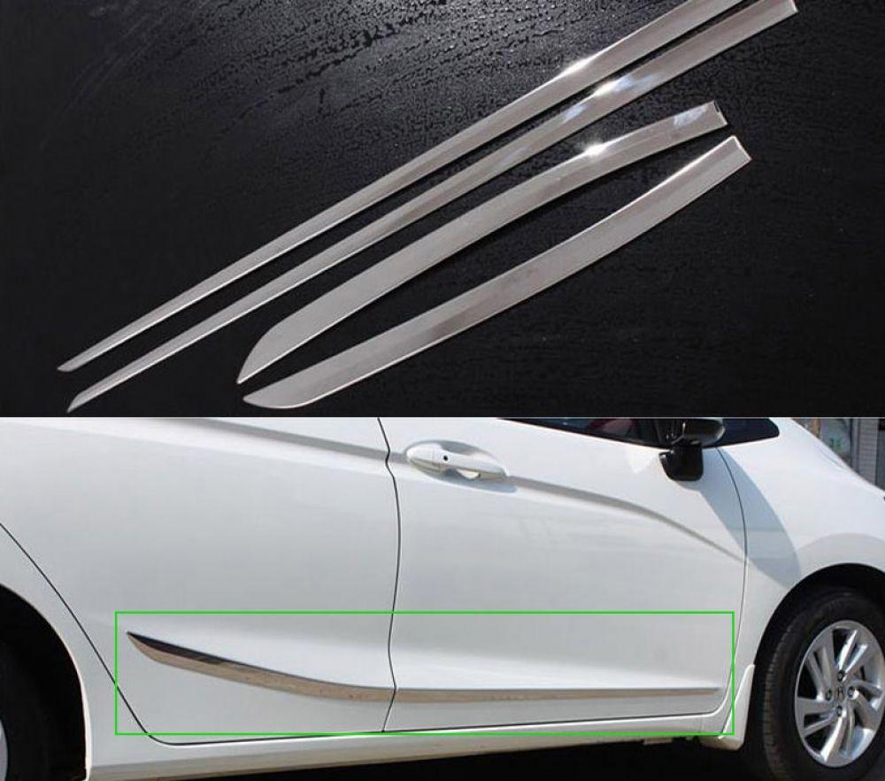 Honda Jazz Chrom Zierleisten Seitenzierleisten Turleisten Honda Jazz Honda Jazz
