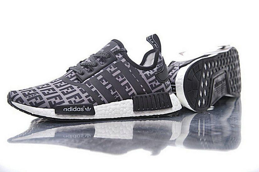 e5c55afa4 Fendi X Adidas NMD R1 Boost Grey Black Ba7747 2018 How To Buy Shoe ...