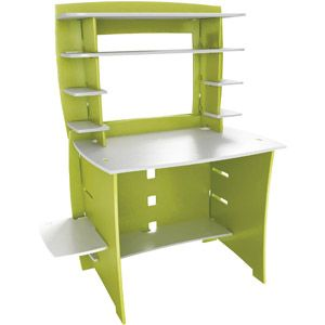 Legare Select Student Desk With Hutch, Green And White