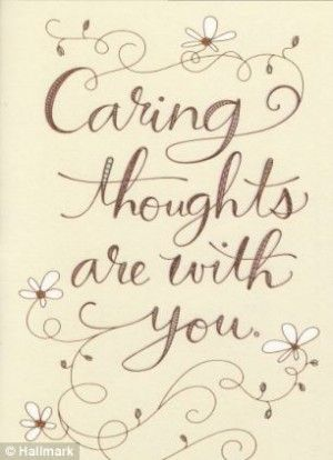 Thinking of you at this difficult time Wishing Well Studios Greetings Card