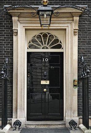 Door To No 10 Downing Street Black Front Doors Beautiful Doors Dark Doors