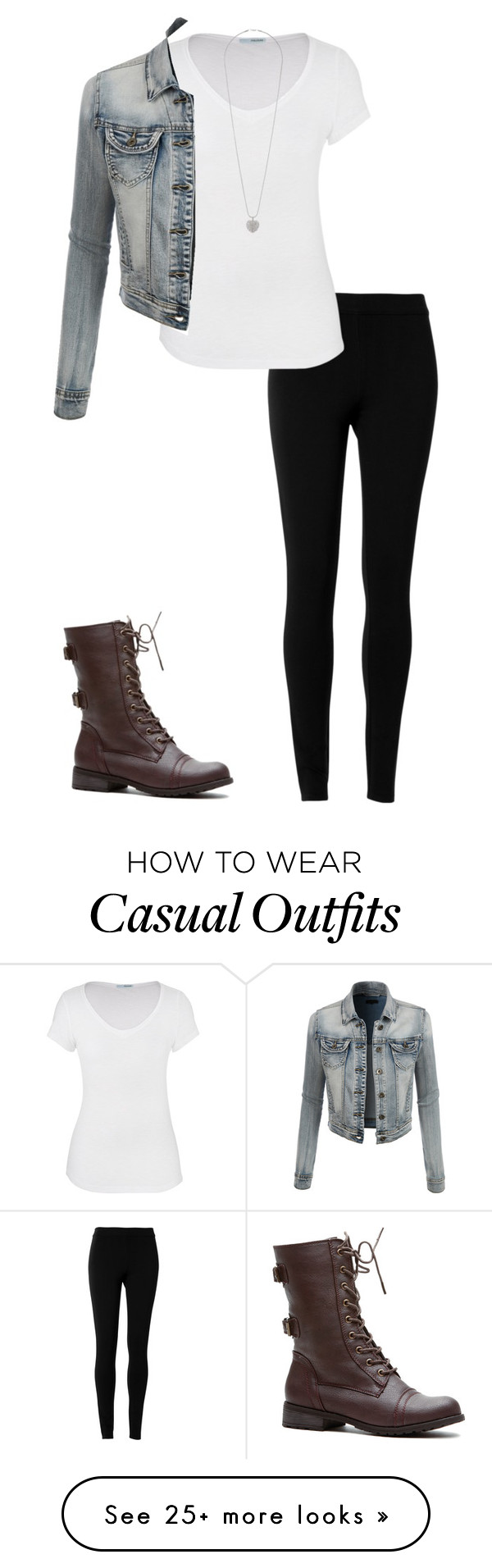 """""""Casual outfit"""" by eadurbala on Polyvore featuring mode, Max Studio, maurices, LE3NO en Dorothy Perkins"""