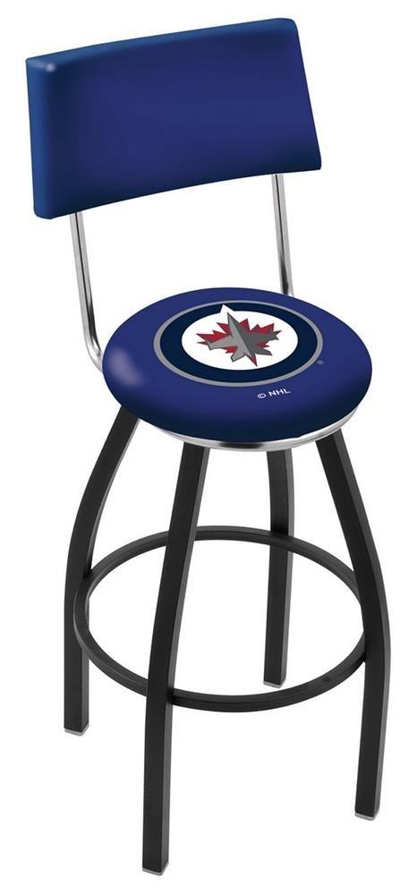 Sensational Winnipeg Jets Swivel Bar Stool With Back Products Bar Cjindustries Chair Design For Home Cjindustriesco