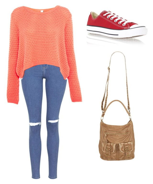 """""""Be Nice"""" by vania-martin ❤ liked on Polyvore featuring Topshop, Pull&Bear and Converse"""