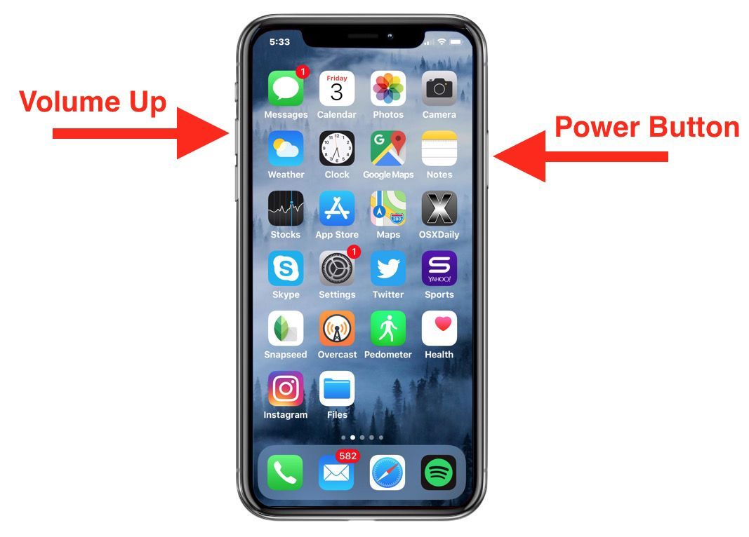 How to take screenshots on iphone x iphone xr xs and
