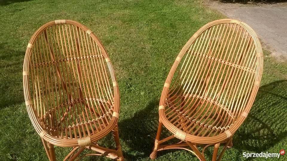 80 Zl Witam Mam Do Sprzedania Dwa Wiklinowe Fotele Bardzo Wygodne Uzywane Ale W Stanie Bardzo Dobrym Idealne Na Taras Balko Wicker Chair Wicker Home Decor