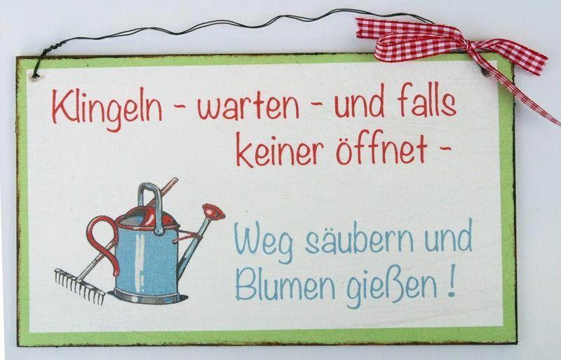 Türschild Garten von Un-Art-Tick auf DaWanda.com (mit ...