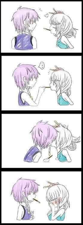 pocky kiss :D hehe!