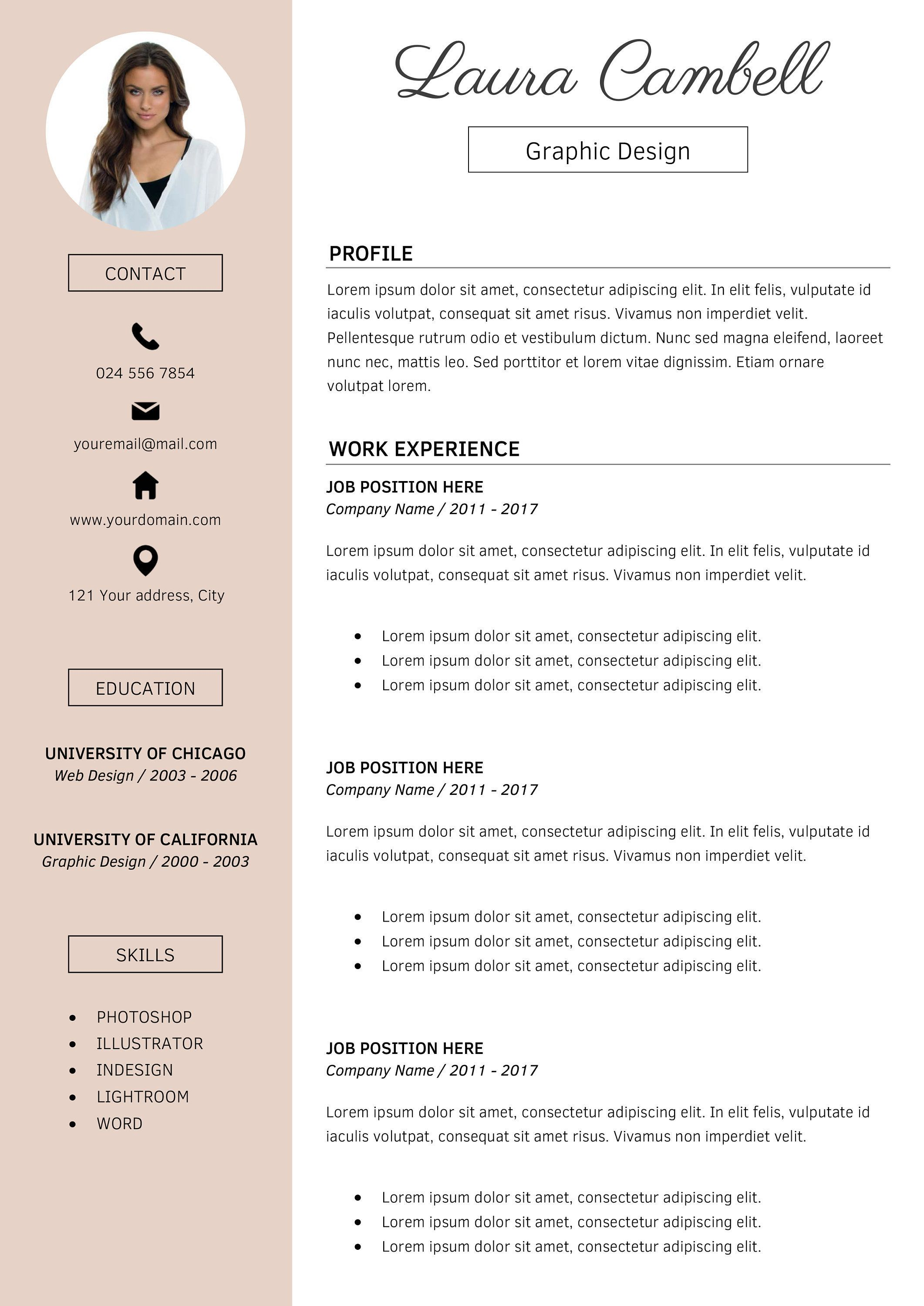 Find the perfect resume docx ms word format free template. Modern Resume Template Cv Template For Ms Word Etsy Resume Design Template Best Resume Template Modern Resume Template