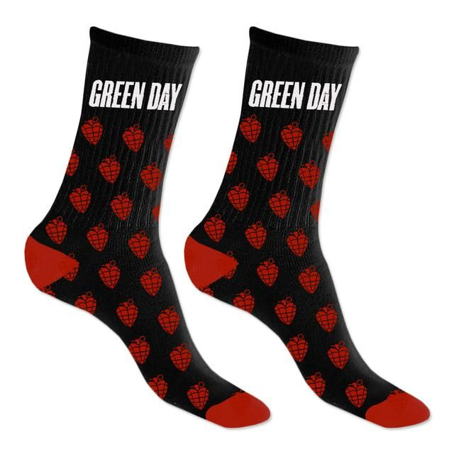 Green Day Christmas.Green Day Grenade Repeat Knit Socks Band Merch Knitting