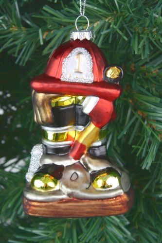 Firefighter Christmas Ornaments - Firefighters Save Hearts & Homes Ornament - Firefighter Christmas Ornaments - Firefighters Save Hearts & Homes
