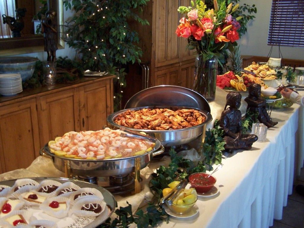 Round Table Family Night Buffet.Wedding Centerpieces For Round Tables Decorating Buffet Table