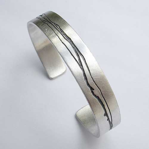 2e7c18200a7bc Contemporary Silver Cuff Bracelet For Women : LOVE2HAVE in the UK ...
