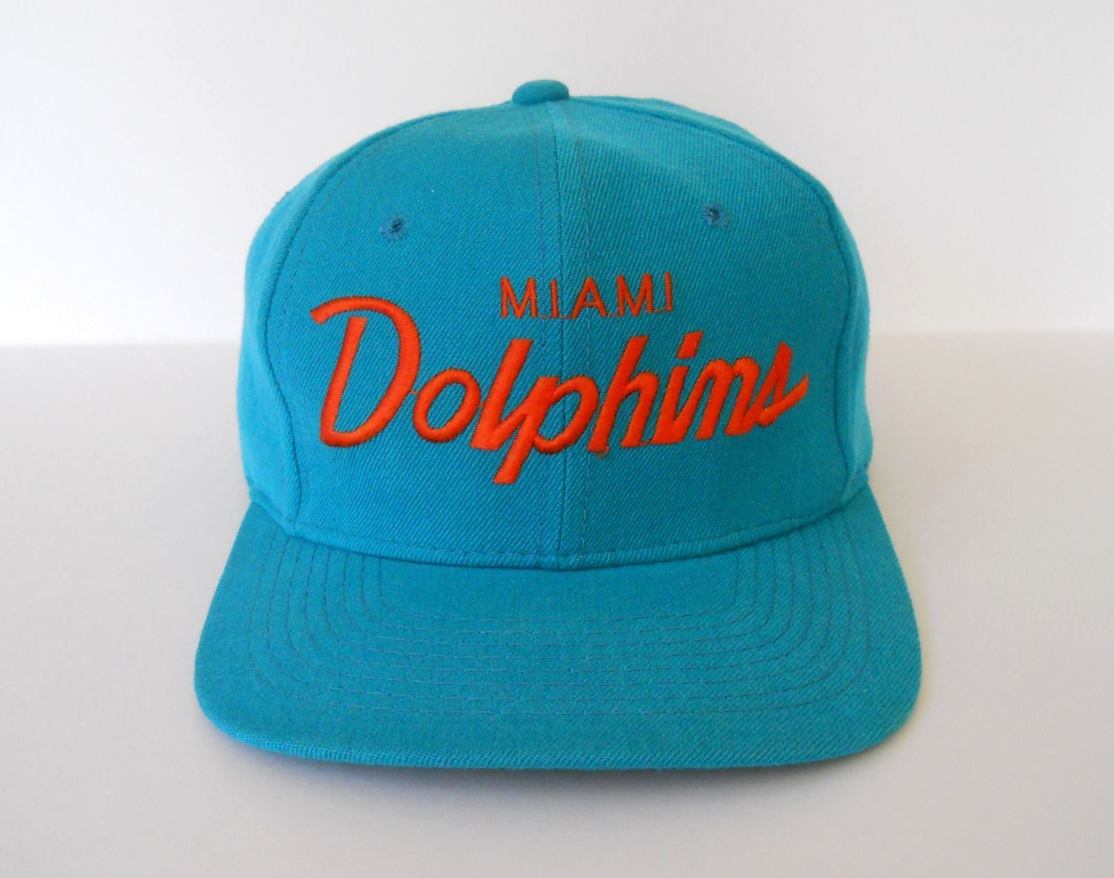 Miami Dolphins Snapback by Sports Secialties Single Line Script Pro NFL  Vintage  b236fdb9f0de