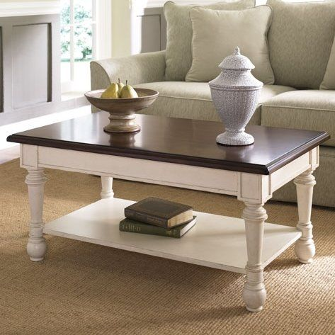 With Its Cantilevered Moldings, Cabriole Legs, And Beadboard Details, This  2 Tone Coffee Table Makes A Classic Stage For A Flickering Lantern Or Cou2026