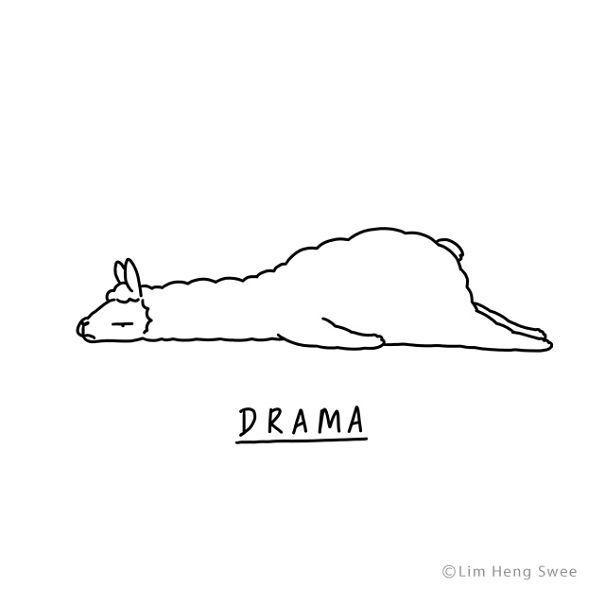 Moody Animals  des animaux tristes en dessins minimalistes par Lim Heng Swee  Dessein de dessin - Moyiki Sites
