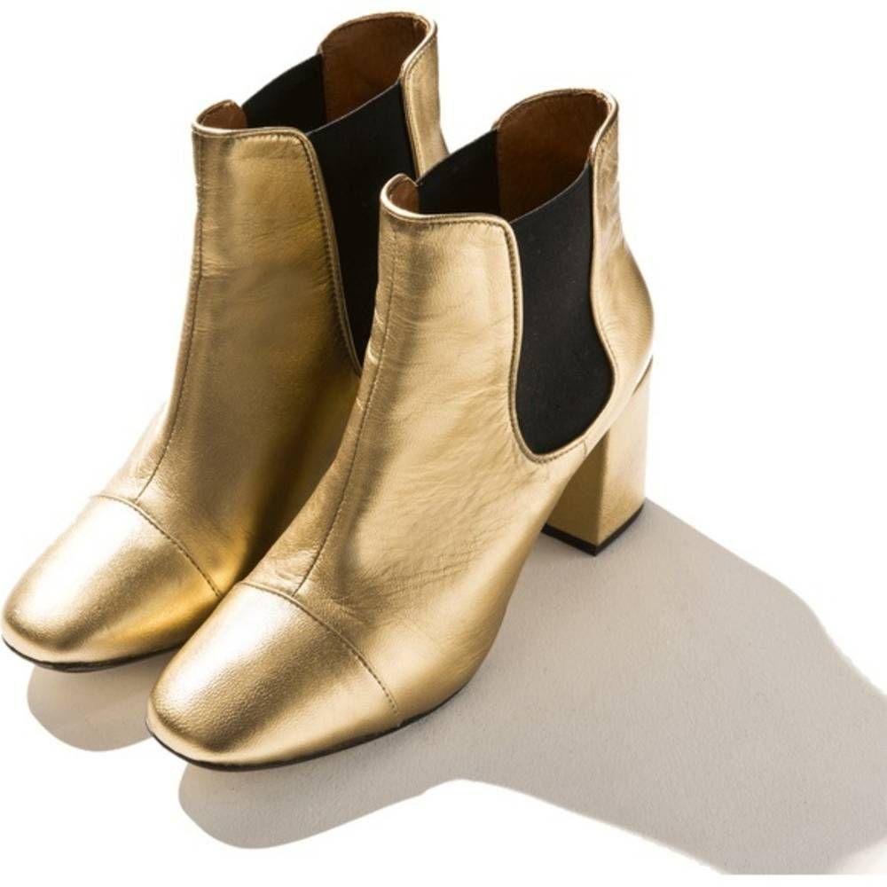 bottes femme dorées