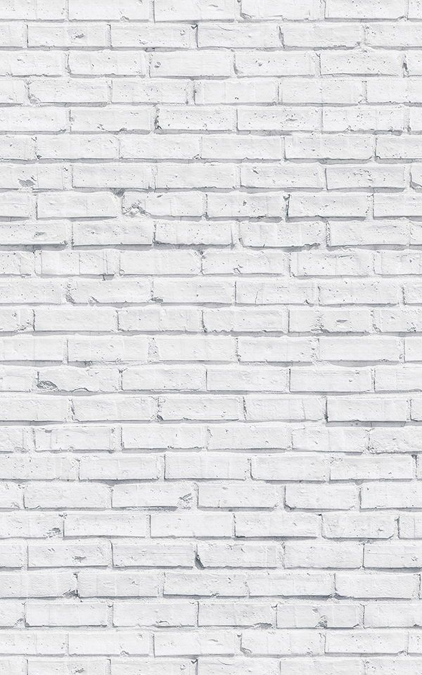 Clean White Brick Wallpaper Mural