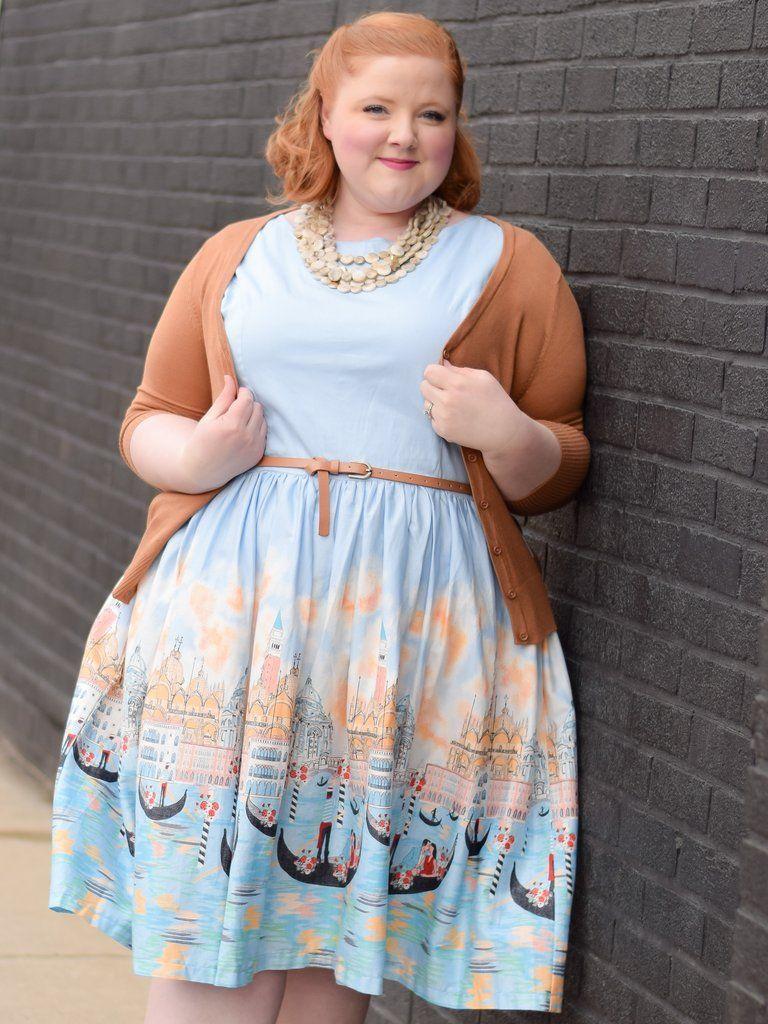 3fd85ac41c2c7 Audrey Venice Gondola Dress from Liz Louize plus size boutique in Royal Oak