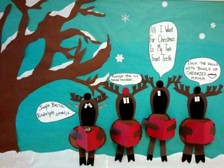 Christmas Decoration For Board : Best christmas bulletin boards ideas on