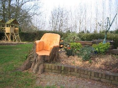 Log Garden Ideas Tree Trunks