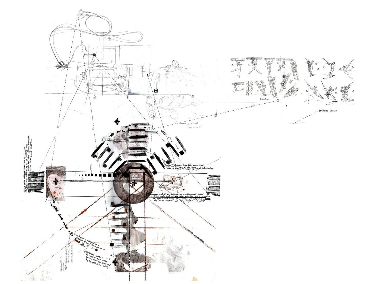 Sound Diagram the interactive house project mixed media print on ...