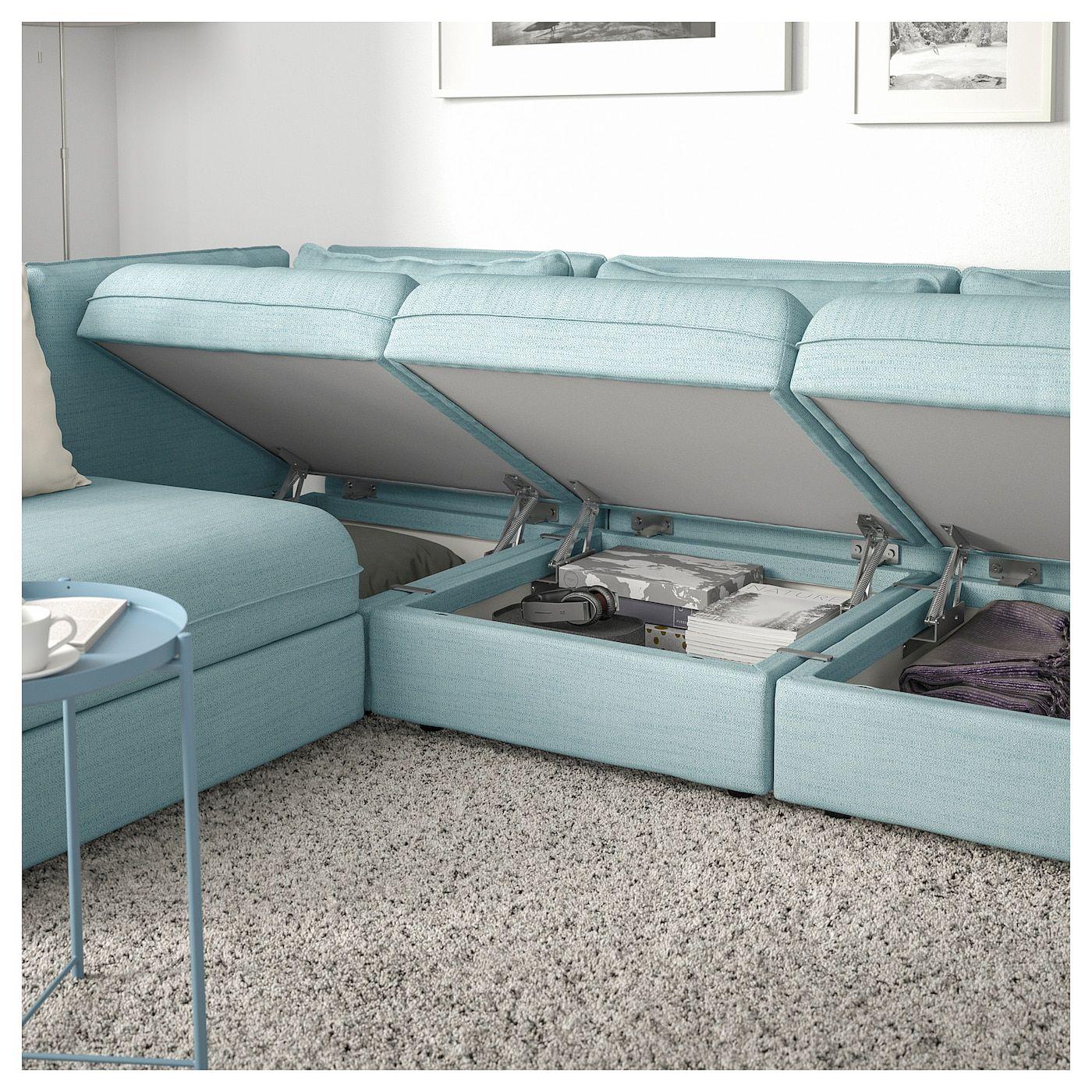IKEA - VALLENTUNA Modular corner sofa, 3-seat with storage, Hillared