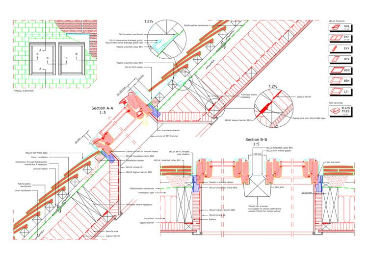 16 CAD Files of Roof Windows and Light Tubes Available for Your Next