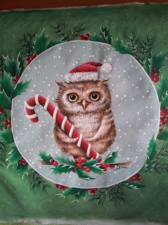 Piatti di natale dipinti a mano. hand painted christmas china ...