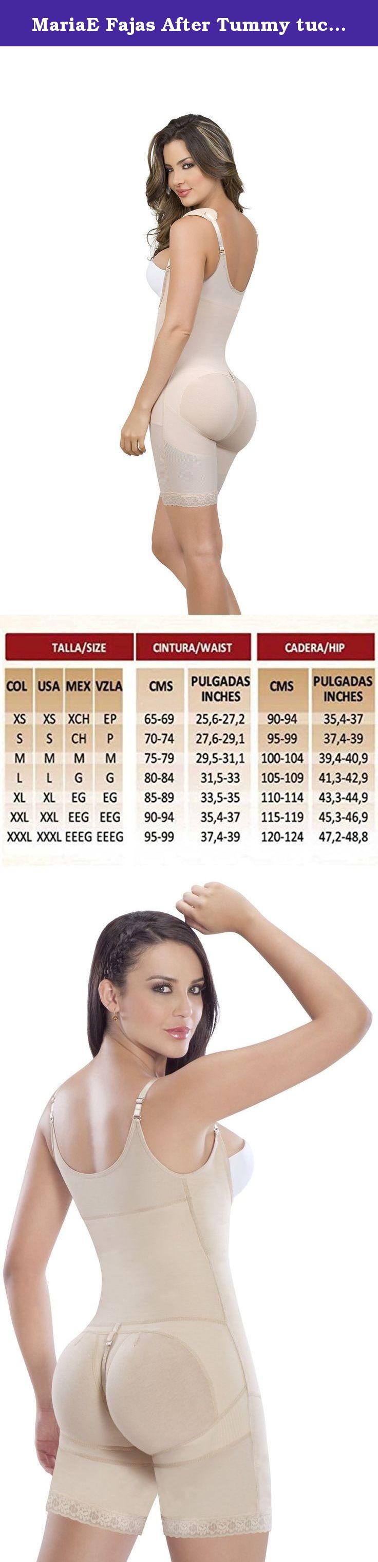 ec9079b3af53d MariaE Fajas After Tummy tuck garment High Compression Powernet Beige 9182  4XL. MariaE Fajas Colombianas