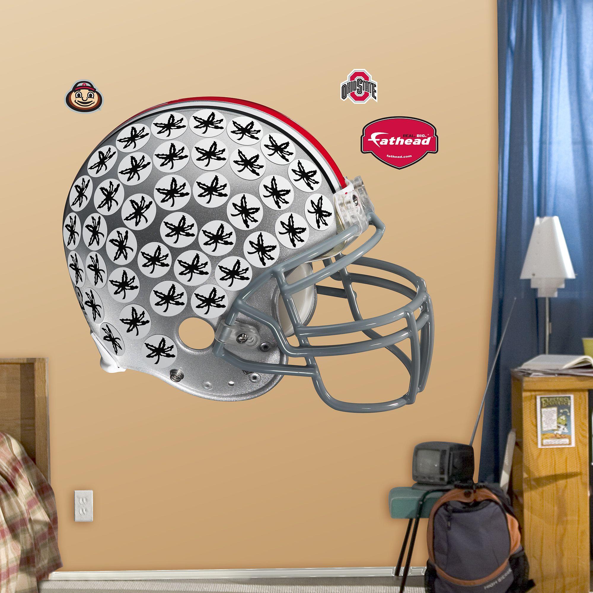 Ohio State Buckeyes Helmet Atlanta braves logo