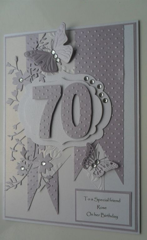 70th Birthday Card By Niftynita