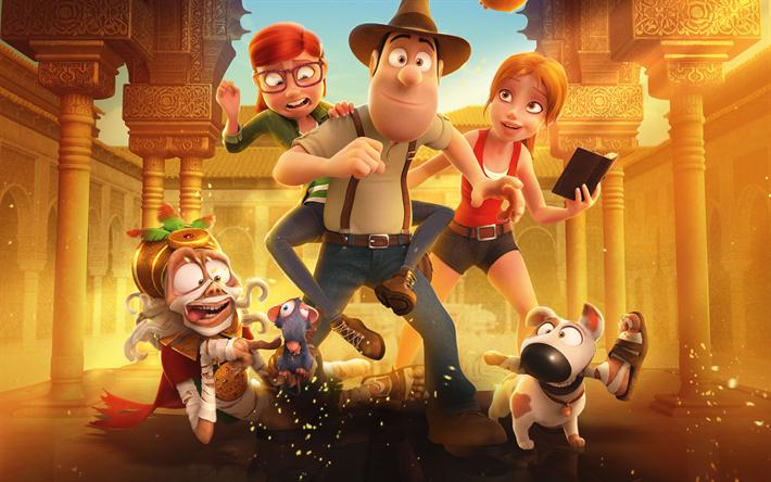 Download Wallpapers 4k Tad Jones The Hero Returns 2017 Movie 3d Animation Besthqwallpapers Com Movie Wallpapers Animated Movies Cartoon Wallpaper