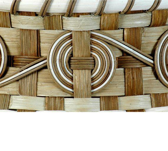 cherokee wheels Hand woven basket in natural colors by WeavingArt