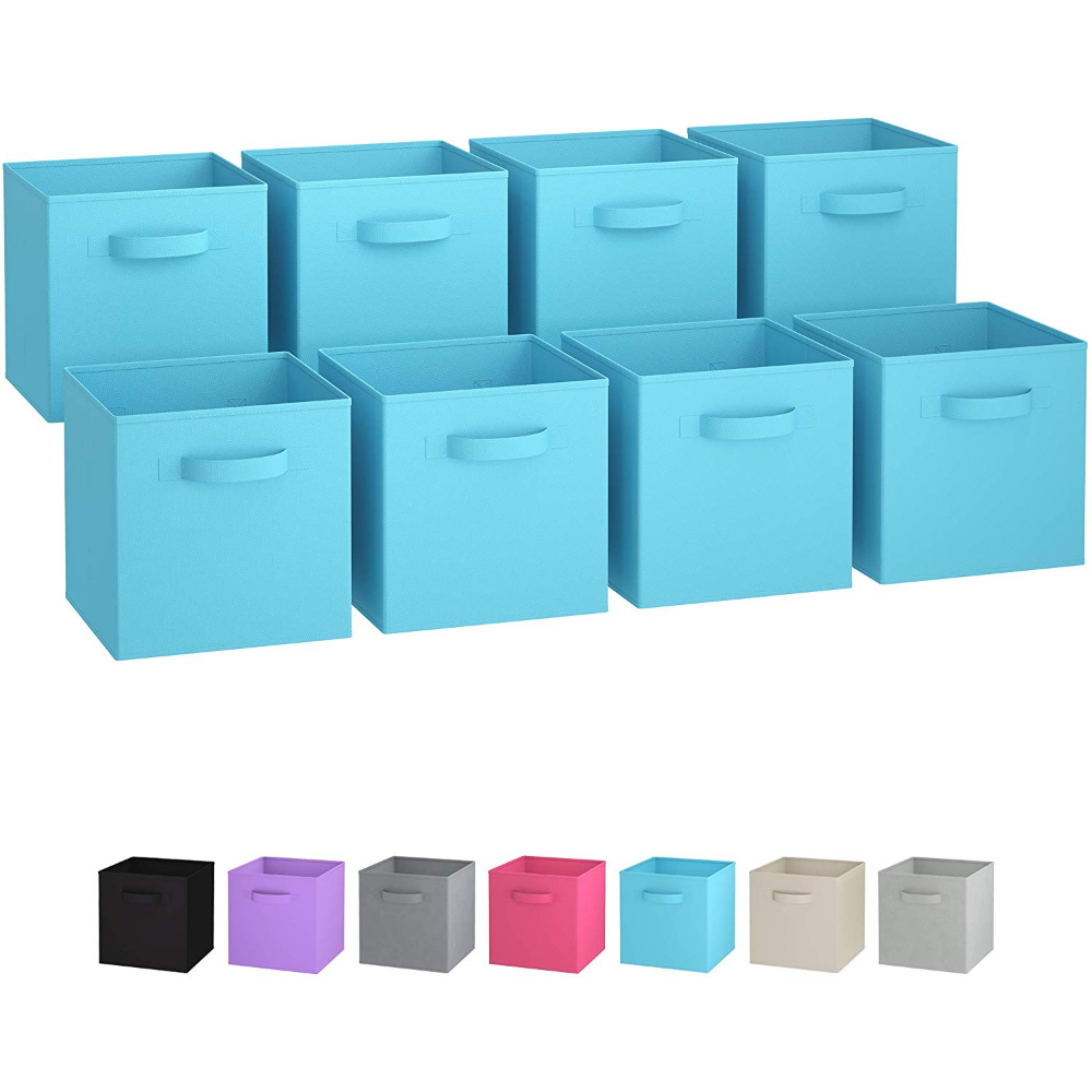 Fabric Collapsible Container Cube Bin Essentials-Office School Kids Baby Storage