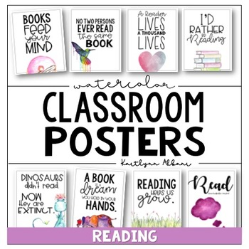 Classroom Posters Inspirational Quotes Reading Edition