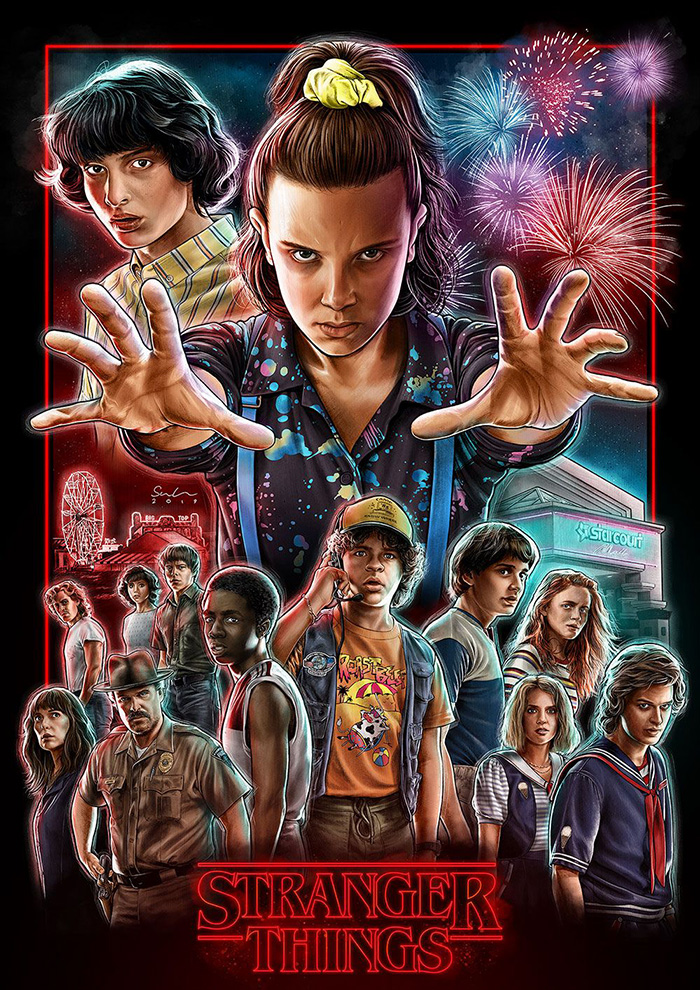 Stranger Things by Sam Green - Home of the Alternative Movie Poster -AMP-
